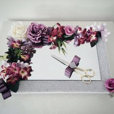 Flower decorated and pedestal promise and engagement tray product, features and . Wedding Favours, Wedding Cards, Wedding Gifts, Engagement Ring Platter, Wedding Engagement, Craft Gifts, Diy Gifts, Flower Decorations, Wedding Decorations