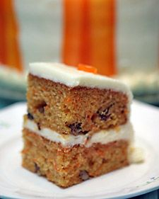 Carrot Cake with orange ginger cream cheese frosting by John Barricelli from Martha Stewart. This is the most amazing and moist carrot cake ever. It has ruined me from ever ordering carrot cake in a restaurant, yes, it is that good. Layer Cake Recipes, Frosting Recipes, Cupcake Recipes, Layer Cakes, Dessert Recipes, Candied Carrots, Martha Stewart Recipes, Toasted Pecans, Wrap