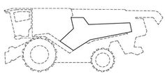 """The mark consists of a stylized letter """"Y"""" positioned on both lateral outer contours of the harvester cladding downstream from the vehicle cab in the longitudinal direction of the harvester. The stylized """"Y"""" trademark is positioned on an outer contour of the vehicle so that its long leg extends away from the position of the vehicle cab in the longitudinal direction of the vehicle and the short leg delimits the long leg on the side facing the cab so that one short leg of the stylized """"Y"""" is…"""