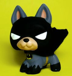 Littlest Pet Shop Batman Bat Dog OOAK Superhero Custom Handpainted figure LPS #Hasbro