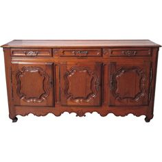 Antique French Enfilade Circa 1850 from lelouvrefrenchantiques on Ruby Lane