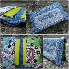 Would be great for a conference :Recycled Business Card case from old jeans
