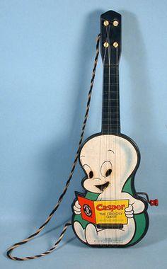 1959 Casper the Friendly Ghost Getar with Mattel Musical Box
