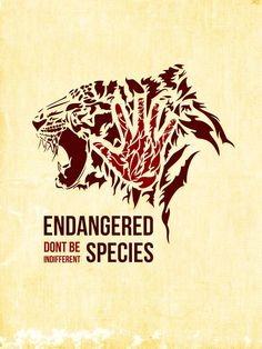 Save tigers - Endangered species, don't be indifferent