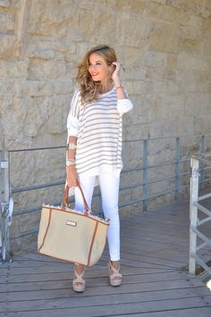 woven bag with nautical 2017 outfit