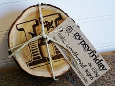 Personalized wood coasters.  Perfect as a wedding gift or a housewarming gift.