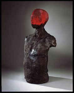 Stephen De Staebler, Man with Tar Heart, 1981, Bronze, 26.5 x 15.5 x 9 in.