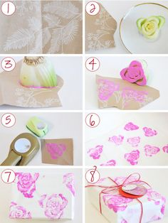 DIY- fun use of celery for a stamp.