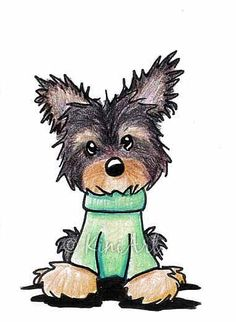 About the Art: Images - Frompo Yorshire Terrier, Disney Kunst, Disney Art, Dog Drawing Simple, Watercolor Birthday Cards, Puppy Drawing, Arte Tribal, Artwork Images, Dog Cat