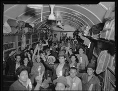 It shows the Mexican workers on the train headed to Los Angeles. Shows how excited they were to be coming to work in the US.