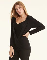 Layered Drape Top in Black by Pepperberry Tops