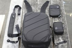 Daypack, shoulder strap and pouches