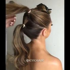 """Hair Videos on Instagram: """"Wounderful __ Follow @hair.feed for more videos Credit By @kykhair"""" Easy Hairstyles For Medium Hair, Fancy Hairstyles, Braided Hairstyles, Wedding Hairstyles, Hair Up Styles, Medium Hair Styles, Grunge Hair, Bridesmaid Hair, Hair Videos"""