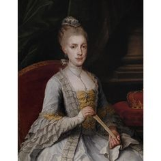 French School, 18th Century, Portrait of a Lady, said to be Mademoiselle de Marteliere