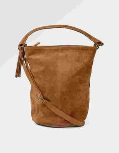 Main image showing Bonnie Suede Bucket Bag