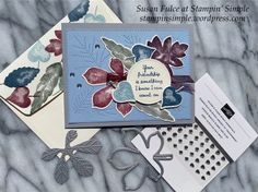 Leaf Cards, Small Leaf, Thanksgiving Cards, Fall Cards, Ink Pads, Autumn Theme, Stampin Up, Card Stock, Merry