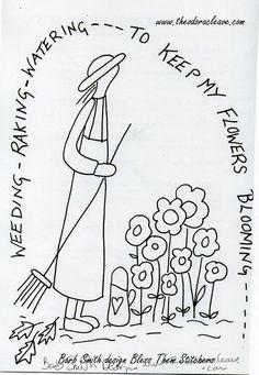 Weeding Bless Them Stitchers Barb Smith design www.theodoracleave.com