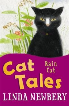 8-12 URTE. Rain cat / Linda Newbery. Jessie is helping her dad prepare for the Open Day on his allotment. Unfortunately the long, hot summer means the vegetables look tired and wilted. When a mysterious stray cat arrives at the allotments, Honeysuckle, one of the gardeners, declares it a Rain Cat from Thailand.
