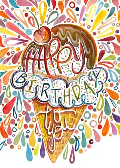 Amarilys Henderson - Happy Birthday Ice Cream Cone 5x7