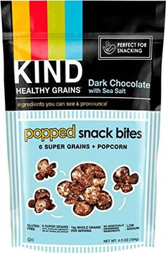 KIND Healthy Grains Gluten Free Popped Snack Bites 6 Super Grains 65oz Dark Chocolate with Sea Salt * Continue to the product at the image link. (Note:Amazon affiliate link)