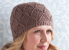 I love this free crochet hat pattern. Crochet Beanie Pattern: Diamonds and Lace Hat