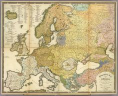 A german ethnic map of Europe 1847 #map #europe #demographics
