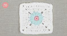 The Meadow - Clue #5 of 18 ~ DROPS Design - Flower Square 5 Daisy