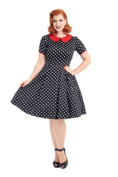 Robe Pin-Up Rétro 50's Rockabilly Vintage Ruby Pois