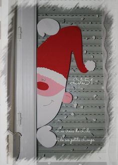 Window pane noel shutter   - christine boudard - #baby #children #happy #instakids #kids -  Fenetre pere noel volet    Window pane noel shutter