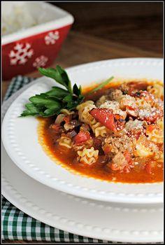 Lasagna Soup - #lasagna