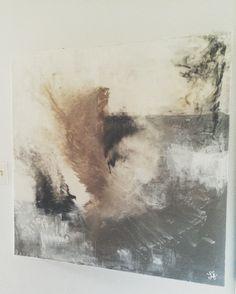 """Premium Marron Crème abstrait toile Artwork Photo MULTI 4 PANNEAU 57/"""" 146 cm"""