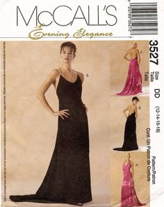 McCalls 3527 - Misses Evening dress - Size 4-10 - uncut