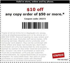 $10 off at Staples! #coupon