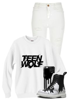 """""""Teen Wolf Season 5"""" by jen-the-glader ❤ liked on Polyvore featuring River Island, Casetify, Dr. Martens, women's clothing, women's fashion, women, female, woman, misses and juniors"""