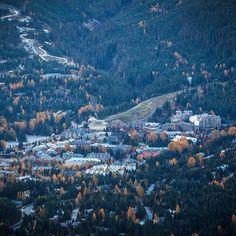 Whistler village - the view from above. :@scott_kranz' Whistler visit on October 16th. #onlyinwhistler
