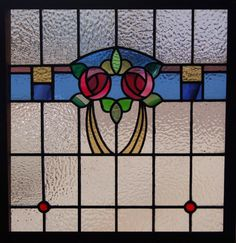 Mackintosh Antique Stained Glass Window