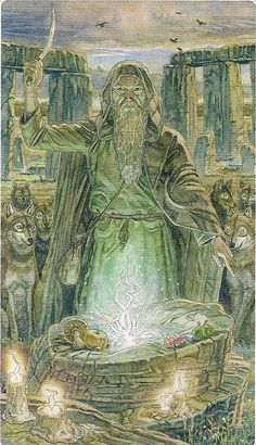 I. The Magician - Sacred Sites Tarot by Massimiliano Filadoro, Federico Penco - Stonehenge