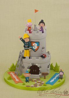 Cartoon Castle Cake - by littlecherry @ CakesDecor.com - cake decorating website