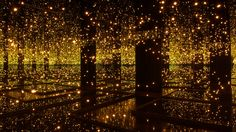 With Mirrors And LEDs, Yayoi Kusama Offers A Taste Of The Infinite Infinity Room by Yayoi Kusama. Uses hundreds of. Yayoi Kusama, Infinity Mirror Room, Infinity Room, Infinity Art, Led Light Installation, Book Installation, Art Japonais, Interactive Art, Arte Pop