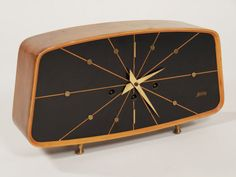 Mid century modern Welby mantle clock by ModHouseFurnishings