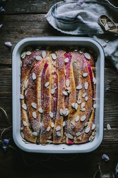 Rhubarb Cake by Eva Kosmas Flores | Adventures in Cooking
