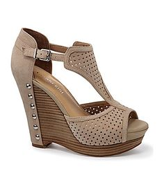 Gianni Bini Josie Wedge Sandals #Dillards.. super cute and ready for summer.. Im getting these!
