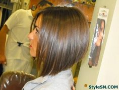 Graduated Bob Hairstyles Back View | Side View of Graduated Bob Hairstyle – attractive short haircut with ...