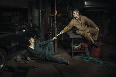 The Renaissance Series, Classic Works of Art Recreated With Mechanics in an Old Garage