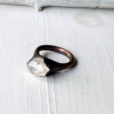 Raw Quartz Ring Crystal Ring Gemetone Ring by MidwestAlchemy, $68.50
