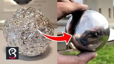 3 Easy Steps To Make a Perfectly Polished Aluminum Foil Ball Christmas Balls, Christmas Diy, Bone Hand Tattoo, Aluminum Foil Crafts, Tin Foil Art, Projects For Kids, Garden Projects, Garden Balls, Cool Diy
