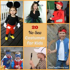 20 {Awesome} No-Sew Costumes for Kids from East Coast Mommies