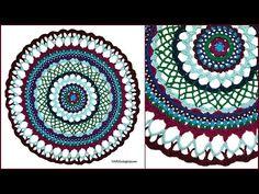Crochet Tutorial: Henna Inspired Mandala – YARNutopia by Nadia Fuad Diy Crochet Doilies, Crochet Mandala Pattern, Doily Patterns, Crochet Yarn, Crochet Stitches, Crochet Hooks, Free Crochet, Crochet Patterns, Crochet Afghans