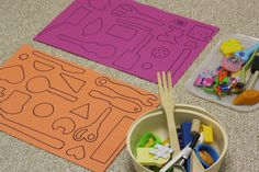 Super-easy homemade matching game.  Use whatever you have on hand.  (happyhooligans.ca)