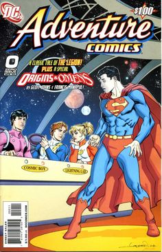 A list of covers imitating Adventure Comics when Superboy tried out for the Legion of Super-Heroes in chronological order. Dc Comic Books, Comic Book Covers, Comic Book Characters, Comic Character, Cosmic Boy, Dc Comics Collection, Superman Art, Superman Family, Legion Of Superheroes